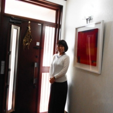 玄関が明るくて暖かいといいですね