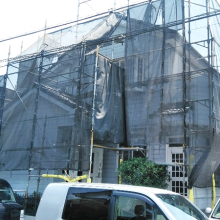 塗装工事施工中